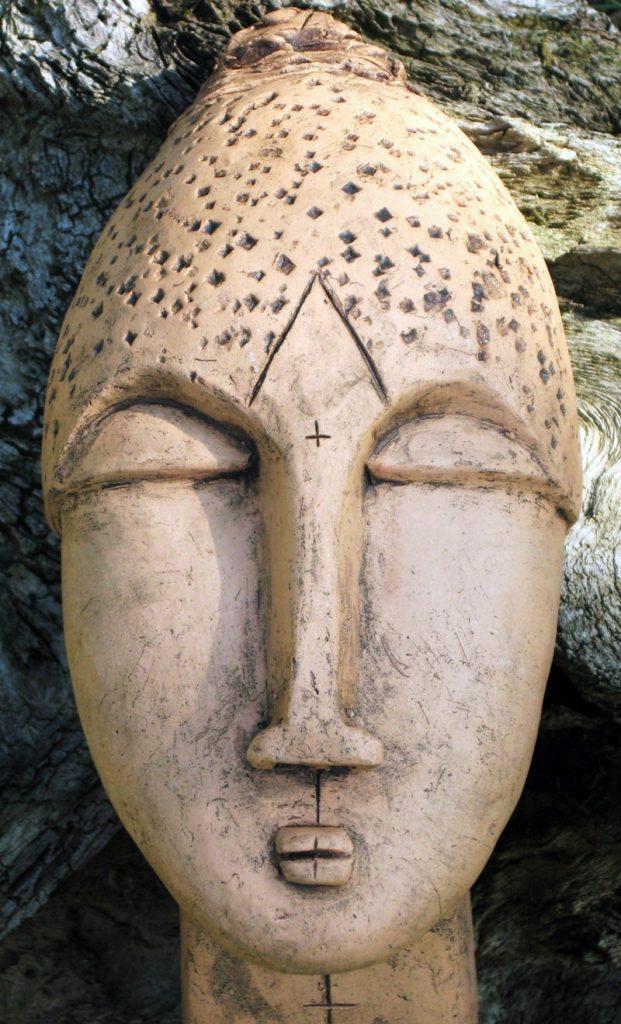 Kopf - Skulptur, Ton - Brigitte Schwarz