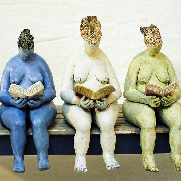 Vorleserinnen - Skulptur - Brigitte Schwarz