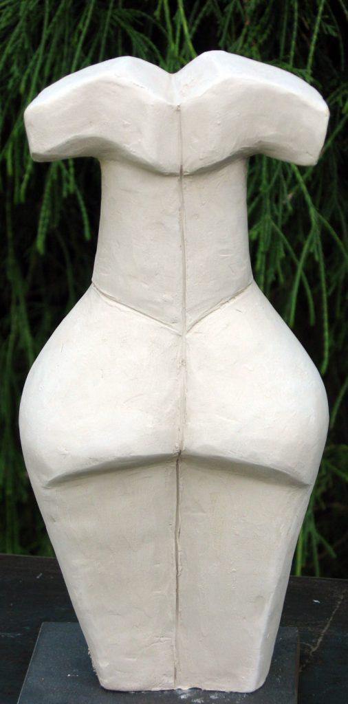 Weiblicher Akt weiß - Skulptur - Brigitte Schwarz