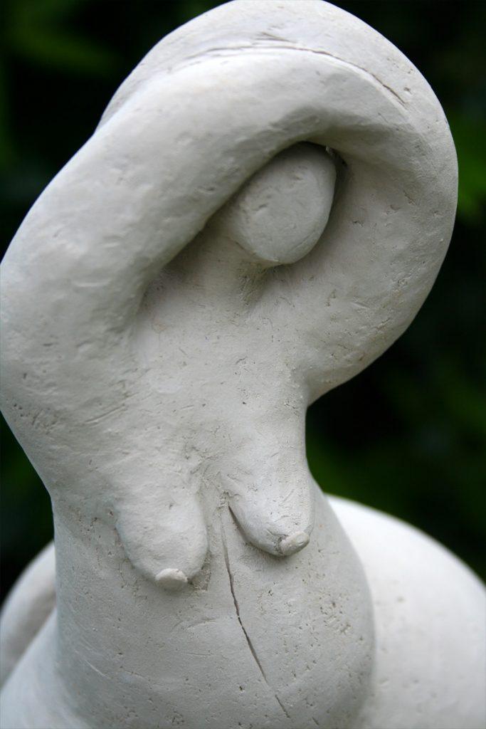 Weißer Schwung - Skulptur - Brigitte Schwarz